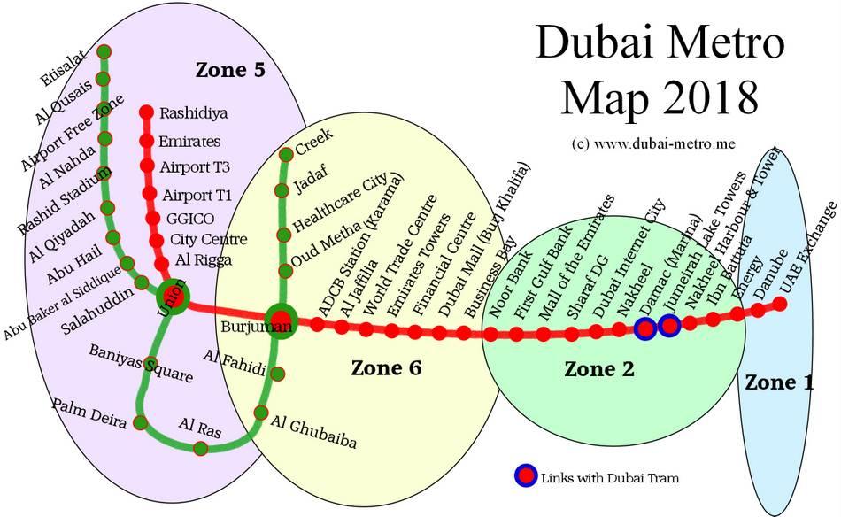 نقشه متروی دبی